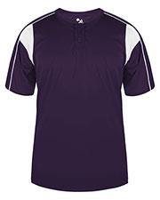 Badger Sportswear 2937 Youth Short-Sleeve 2-Button T-Shirt at GotApparel