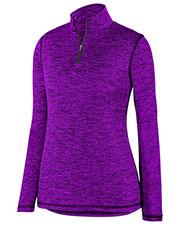 Augusta 2957 Women Intensify Black Heather 1/4 Zip Pullover at GotApparel