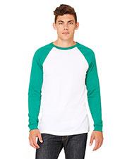 Bella + Canvas 3000C Men Jersey Long-Sleeve Baseball T-Shirt at GotApparel