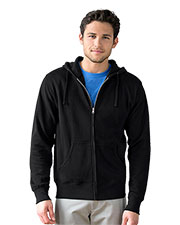 Vantage 3289 Men Premium Lightweight Fleece Full-Zip Hoodie at GotApparel