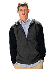 Vantage 3295 Men Full-Zip Two-Tone Jersey Knit Hoodie at GotApparel