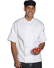 Edwards 3306 Unisex 10 Button Short-Sleeve Chef Coat at GotApparel