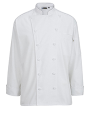 Edwards 3318 Unisex 12 Cloth Button Classic Chef Coat at GotApparel
