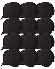 Yupoong 6533 Unisex Flexfit Ultrafibre Cap 12-Pack at GotApparel