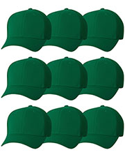 Yupoong 6533 Unisex Flexfit Ultrafibre Cap 9-Pack at GotApparel