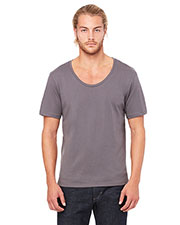 Bella + Canvas 3406 Men Jersey Wide Neck T-Shirt at GotApparel