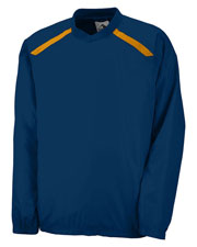 Augusta 3417 Men Protum Pullover Long Sleeve V-Neck Jersey at GotApparel