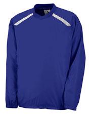 Augusta 3417 Men Protum Pullover Long Sleeve V-Neck Jersey at GotApparel