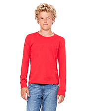 Bella + Canvas 3501Y Boys Jersey Long-Sleeve T-Shirt at GotApparel