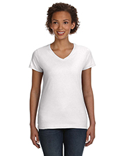 LAT 3507 Ladies 4.5 oz V-Neck Fine Jersey T-Shirt at GotApparel