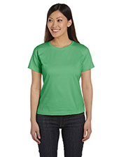 Lat 3580 Women Ringspun Crew Neck T-Shirt at GotApparel