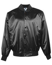 Augusta 3600 Men Solid Satin Baseball Jacket With Slash Front Pockets at GotApparel