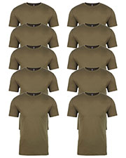 Next Level 3600 Men Premium Fitted Short-Sleeve Crew 10-Pack at GotApparel