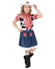 Smiffys 36328S Girls Cowgirl Sweetie Costume, Blue at GotApparel