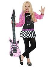 Smiffys 36334L Girls Rockstar Glam Costume, Black at GotApparel
