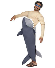 Smiffys 36378 Men Man-Eating Shark Costume, Grey at GotApparel