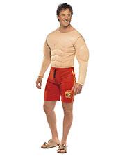 Smiffys 36584L Men Baywatch Lifeguard Costume, Red at GotApparel