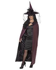 Smiffys 36873 Women Reversible Cape, Black & Purple at GotApparel