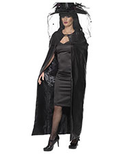 Smiffys 36934 Women Deluxe Witch Cape, Black at GotApparel