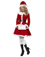 Smiffys 36989S Women Miss Santa Costume, Red at GotApparel