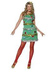 Smiffys 36992M Women Christmas Tree Costume, Green at GotApparel