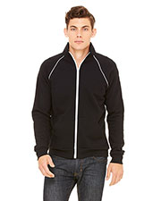 Bella + Canvas 3710 Men Piped Fleece Jacket at GotApparel