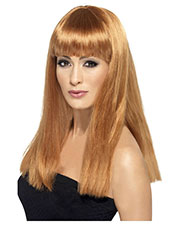 Smiffys 38049 Women Glamourama Wig, Auburn at GotApparel