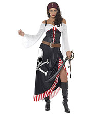 Smiffys 38062S Women Sultry Swashbuckler, Black at GotApparel