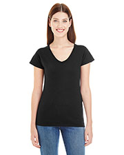 Anvil 380VL Women Lightweight Fitted V-Neck Tee at GotApparel