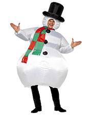 Smiffys 38155 Unisex Inflatable Snowman Costume, White at GotApparel