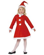 Smiffys 38385L Girls Santa Girl Costume, Red at GotApparel