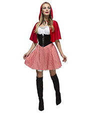 Smiffys 38490L Women Fever Red Riding Hood Costume, Red at GotApparel