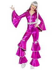 Smiffys 38520S Women 70s Dancing Dream Costume, Pink at GotApparel
