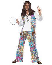 Smiffys 38628M Men Groovy Hippie Costume, Multi-Coloured at GotApparel
