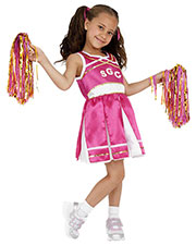 Smiffys 38645L Girls Cheerleader Costume, Child, Pink at GotApparel