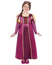 Smiffys 38649M Girls Tudor Girl Costume, Purple at GotApparel