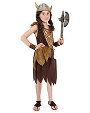 Smiffys 38650L Girls Viking Girl Costume, Brown at GotApparel