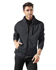 Burnside 3901 Men Sweater Knit Fleece Jacket at GotApparel
