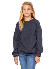 Bella + Canvas 3901Y Youth Sponge Fleece Raglan Sweatshirt at GotApparel