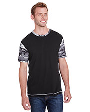 Code V 3908 Men Fashion Camo Ringer T-Shirt at GotApparel