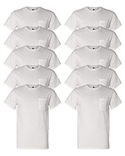 Fruit Of The Loom 3931P Men 5 Oz. 100% Heavy Cotton Hd Pocket T-Shirt 10-Pack at GotApparel