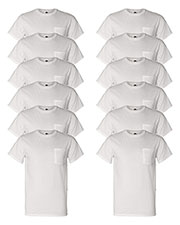 Fruit Of The Loom 3931P Men 5 Oz. 100% Heavy Cotton Hd Pocket T-Shirt 12-Pack at GotApparel