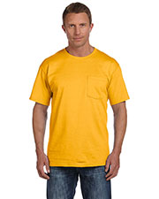 Fruit Of The Loom 3931P Men 5 Oz. 100% Heavy Cotton HD Pocket T-Shirt at GotApparel