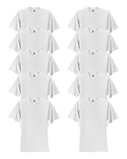 Fruit Of The Loom 3931 Men 5 Oz. 100% Heavy Cotton Hd T-Shirt 10-Pack at GotApparel