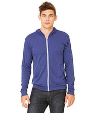 Bella + Canvas 3939 Unisex Tri-Blend Full-Zip Lightweight Hoodie at GotApparel