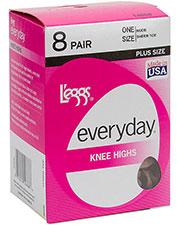 Leggs 39400 Women Everyday Knee High 8 Pair Pack at GotApparel