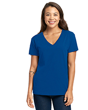 Next Level 3940 Ladies Relaxed V-Neck T-Shirt at GotApparel