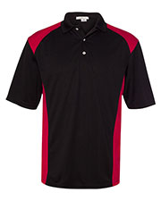 FeatherLite 466 Men Colorblocked Moisture-Free Mesh Sport Shirt at GotApparel