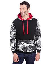 Code V 3967 Men Fashion Camo Hooded Sweatshirt at GotApparel