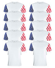 Code V 3976 Men Stars & Stripes T-Shirt 10-Pack at GotApparel